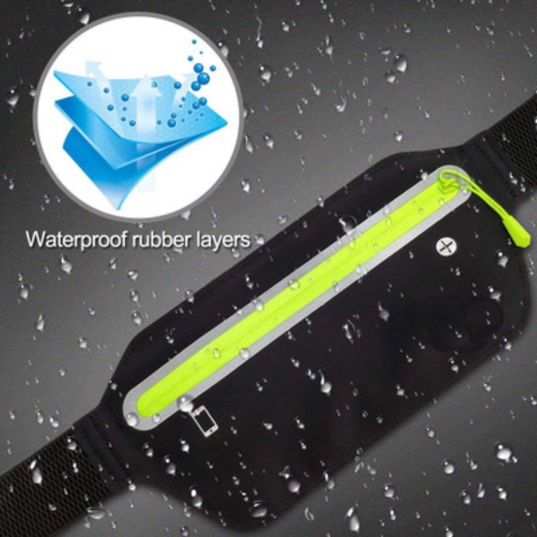 Ultra-thin Sport Waist Pouch Workout Running Belt Sweatproof Waterproof Reflective Bum Bag Fanny Pack