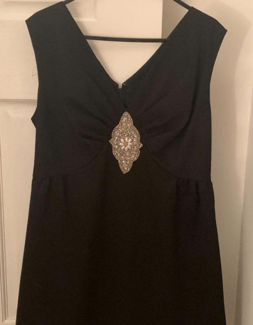 Women's Vintage 1960's Cocktail Dress in Black