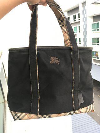 Vintage burberrys tote bag