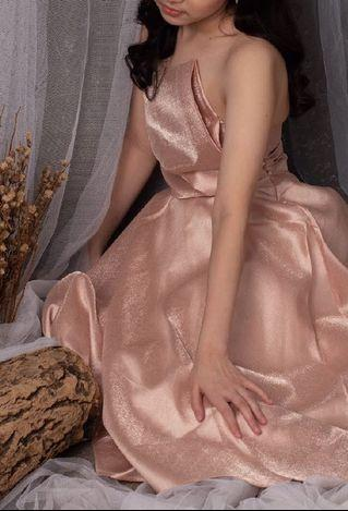 Rosegold dress party (reprice)