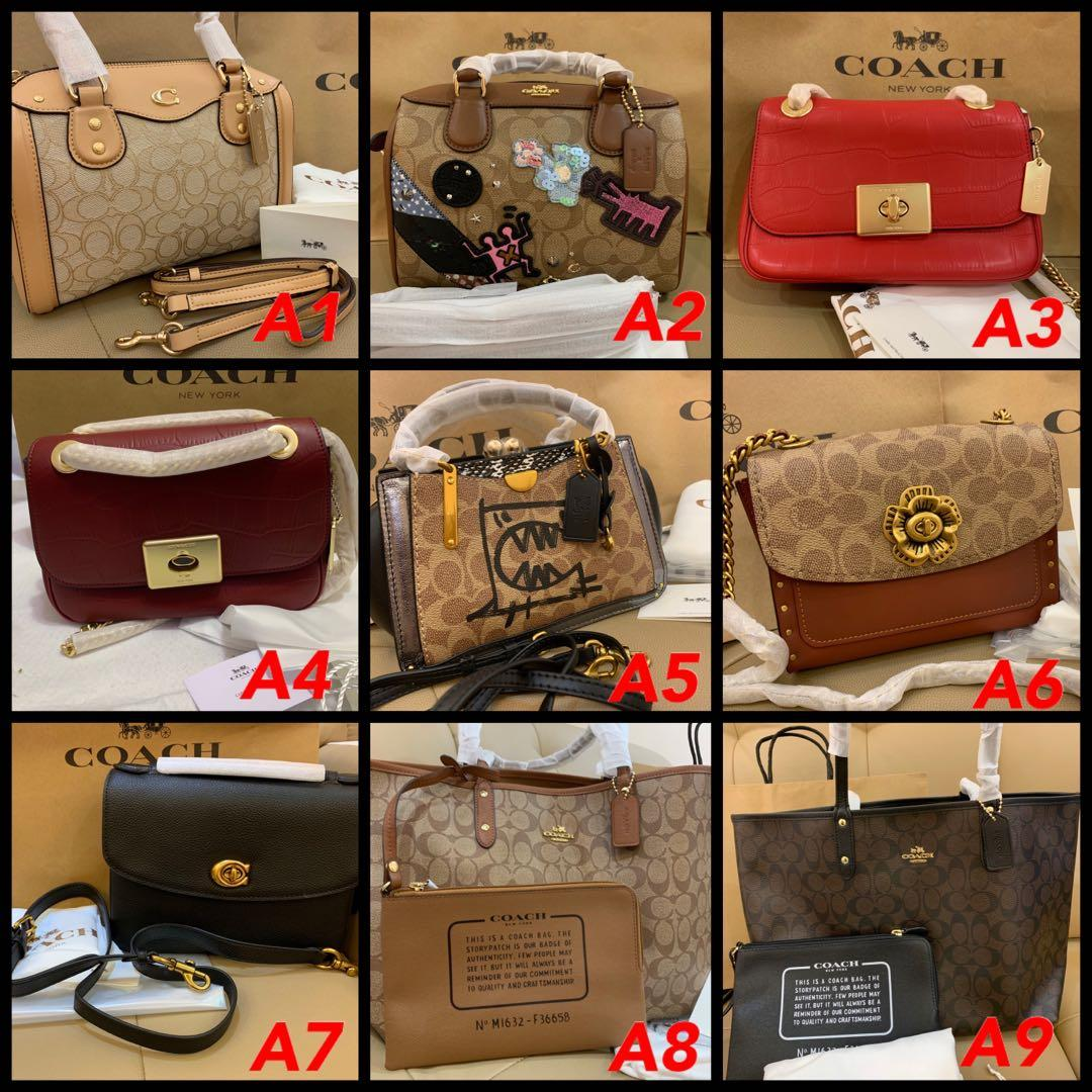(02/11/19) Ready stock authentic coach women handbag backpack Tory Burch mj lanyard card holder mj wallet wristlet bb