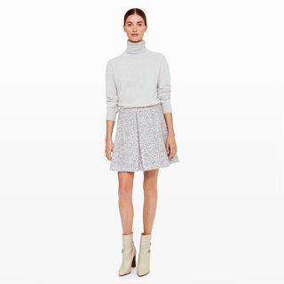 Club Monaco Grey Wool Skirt (Size 6)