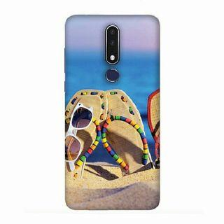 Cute Flip Flops On Beach Nokia 7.1 Custom Hard Case