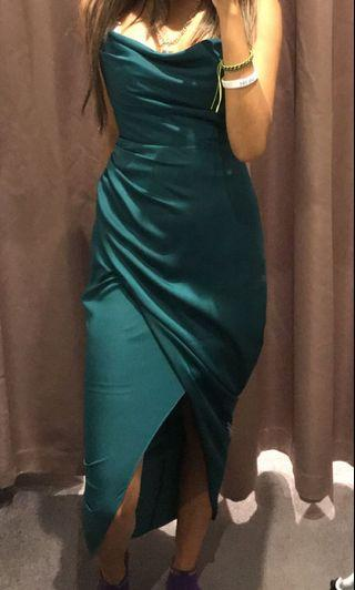 Emerald green ball dress