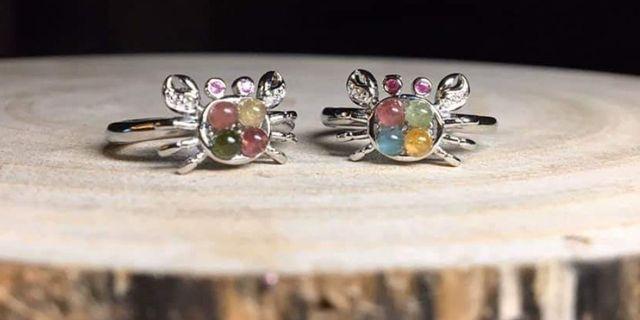 ♥️萍價水晶♥️ 螃蟹 碧璽 戒指 手飾 飾品  (隨機出貨)