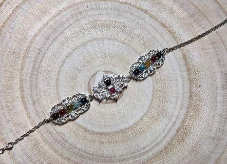 ♥️萍價水晶♥️ 碧璽 手鍊 銀鍊 手飾 飾品  (隨機出貨)