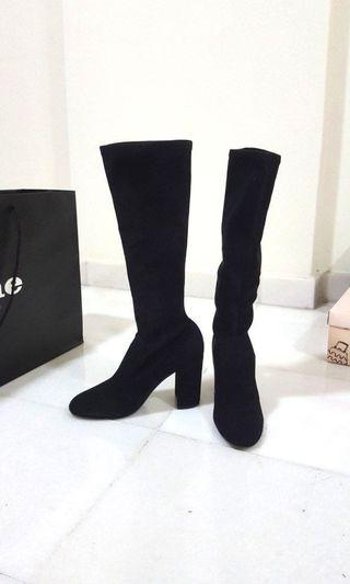 New! Dune London Suede high boots
