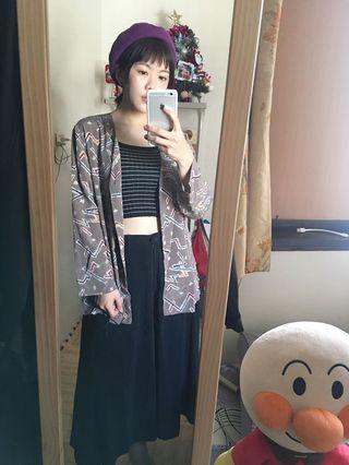 復古罩衫+背心