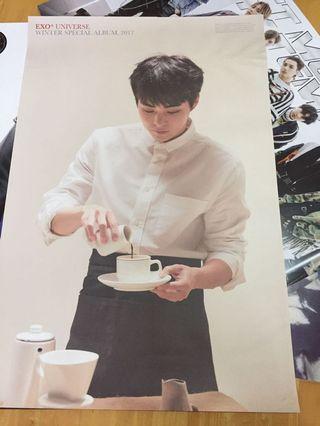 EXO xiumin universe poster