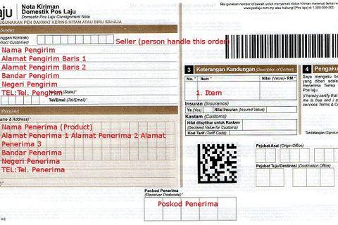 POSTAGE TYPE THAT I USE [POS MALAYSIA ONLY]