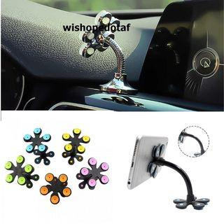 Magic double sided suction cup mobile phone bracket flower