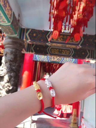 香港🇭🇰銀飾 11/18收單 貔貅紅繩拉扯手鍊
