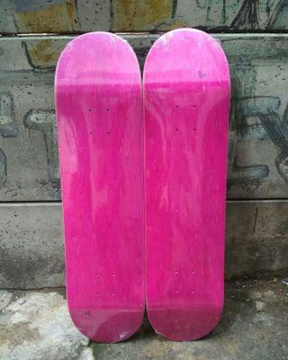 Skateboard Blank Deck Pink 8.0