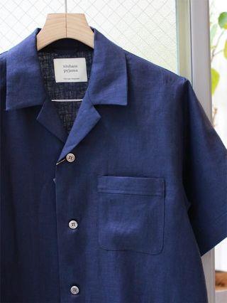 niuhans/pyjama comfort french linen s/s shirt