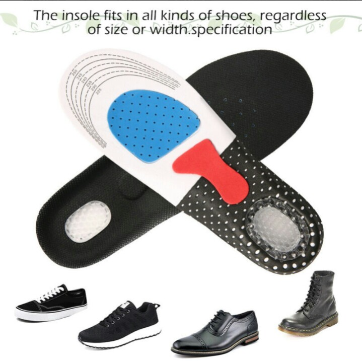 1 Pair Orthotic Arch Support Relief Pain Shoe Pad For Prolong Standing N Sport Unisex Gel Insoles