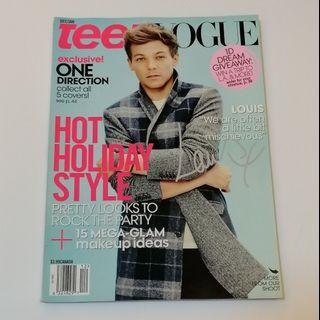 PRE💙D Teen Vogue One Direction Back Issue - Louis Tomlinson Cover