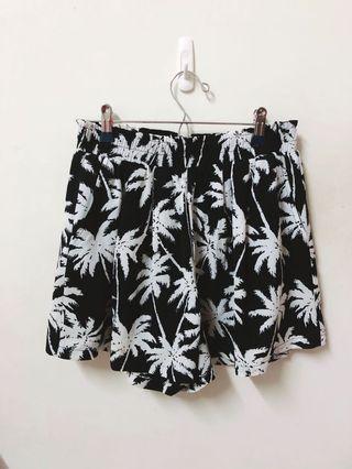 Pazzo夏威夷圖騰 鬆緊雪紡短褲