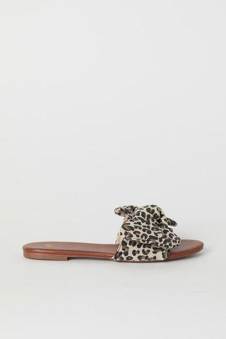 #belanja0 H&M sandals leopard pattern with bow