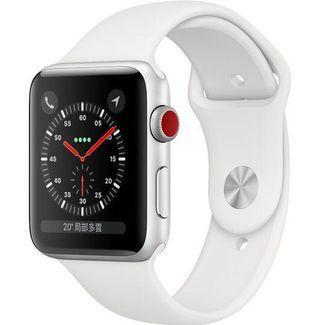Apple Watch 第三代銀色鋁金屬錶殼搭配灰色運動型錶帶