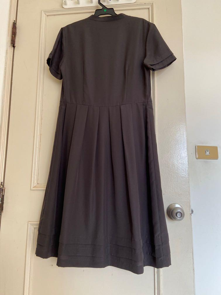 香港專櫃品牌鐵灰黑色洋裝9成新
