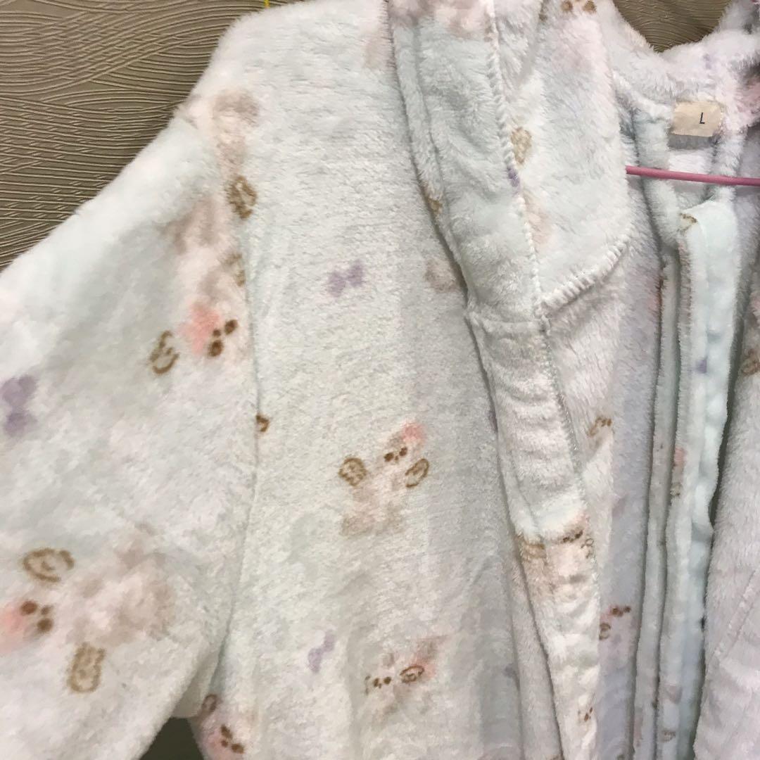 珊瑚絨可愛毛浴袍 #出清2019