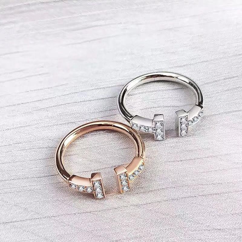 香港🇭🇰銀飾 雙鑲鑽純銀開口戒指