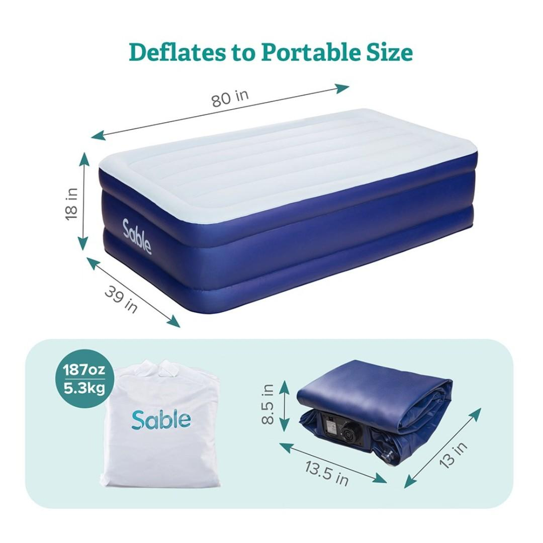 Air Mattress Twin Size XL with Built-in Electric Pump