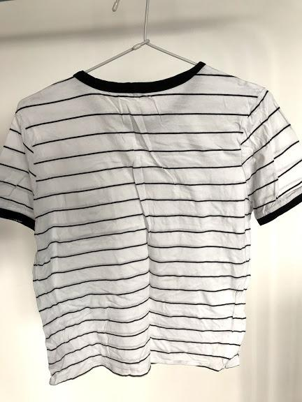 Black & white striped shirt - size measurement included