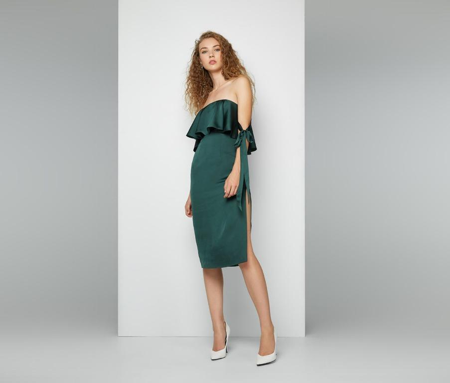BNWT FAME & PARTNERS EMERALD KHIVA DRESS - SIZE 10AU / 6US (RRP $320)
