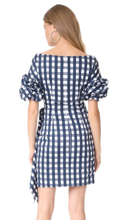 BNWT FAME & PARTNERS GINGHAM RUSSO DRESS - SIZE 16 AU/12 US (RRP $360)