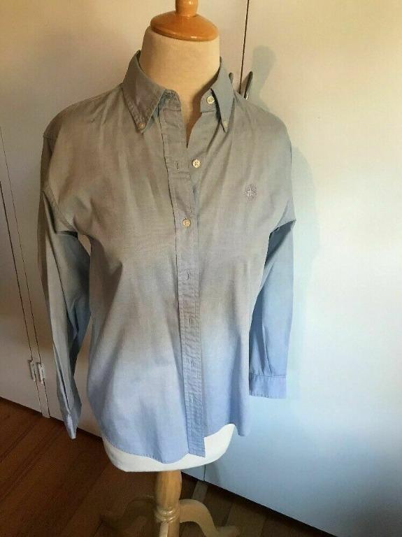 BROOKS BROTHERS Women's Long Sleeve Light Blue Oxford Shirt | Small | RRP $130