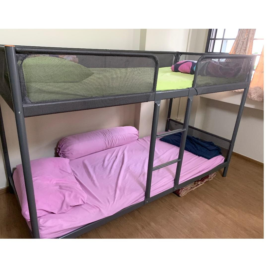 Picture of: Bunk Bed Frame Ikea Furniture Beds Mattresses On Carousell