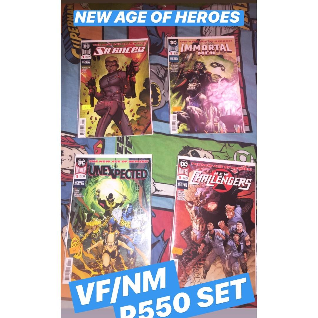 DC New Age of Heroes (Silencer #1, The Immortal Men #1, New Challengers #1, Unexpected #1)
