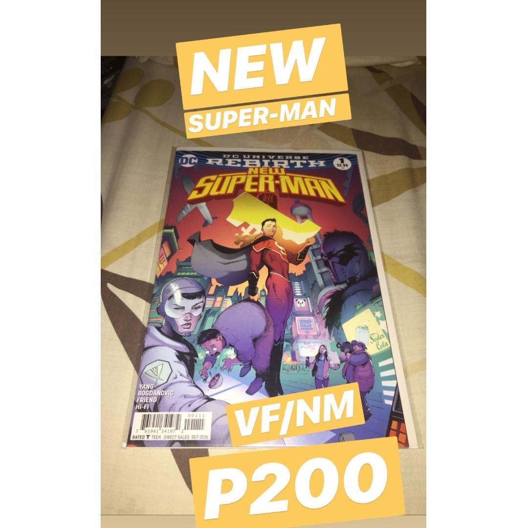 DC Rebirth (New Superman #1, Green Lanterns #1 and Green Lanterns: Rebirth #1 2nd printing, Batgirl and the Birds of Prey: Rebirth #1 variant)