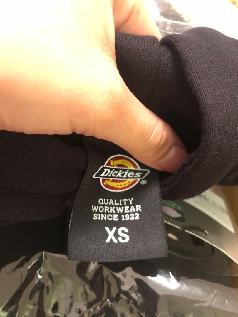 Dickies中性經典logo黑色有帽衛衣