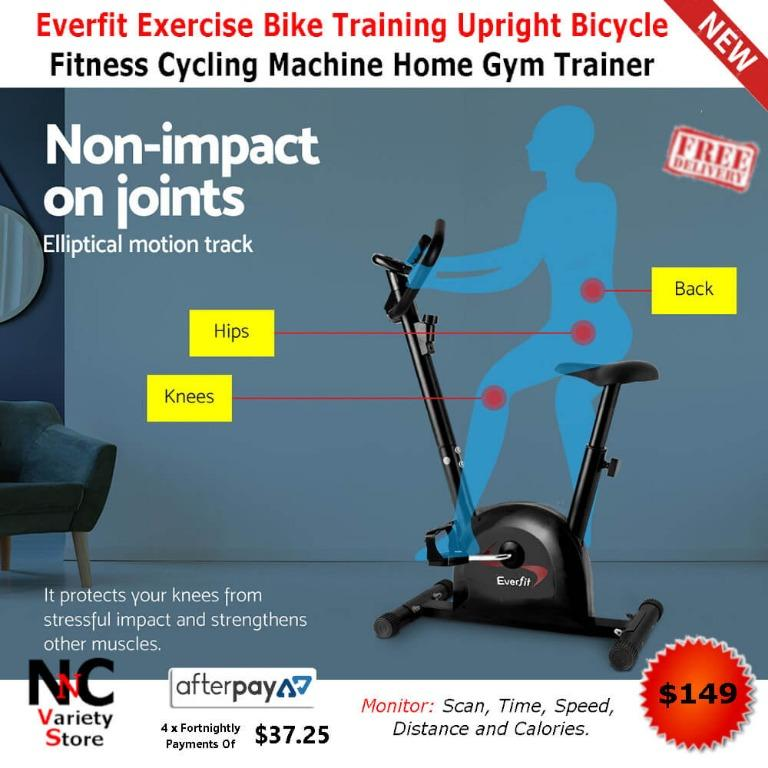 Everfit Exercise Bike Training Upright Bicycle Fitness Cycling Machine Home Gym Trainer Workout