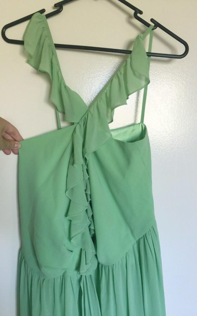 Green maxi formal dress
