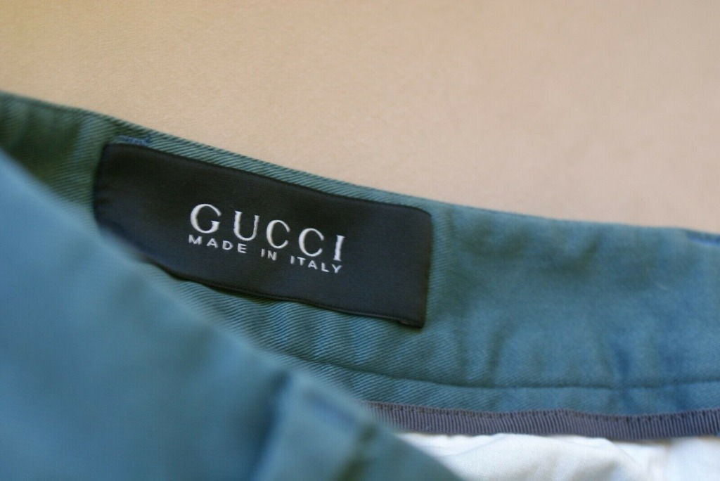 GUCCI Chino Pants | Cuffed Teal | Made in Italy | RRP $1000+