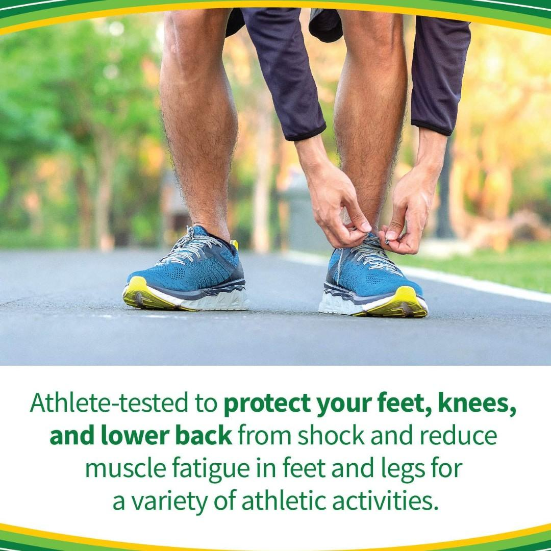 In Stock Dr. Scholl's SPORT Insoles // Superior Shock Absorption and Arch Support to Reduce Muscle Fatigue and Stress on Lower Body Joints (for Women's 6-10)