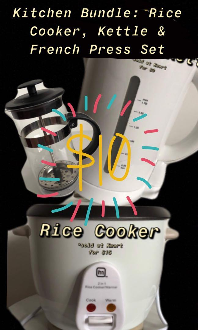 Kitchen Bundle - Rice cooker, Kettle & French Press