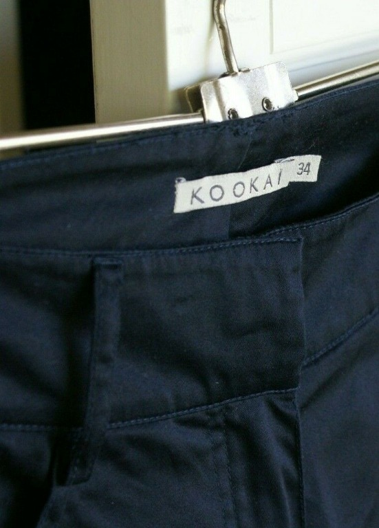 KOOKAI Navy Pants | Size 34 | Stretch Trousers Like New | RRP $150