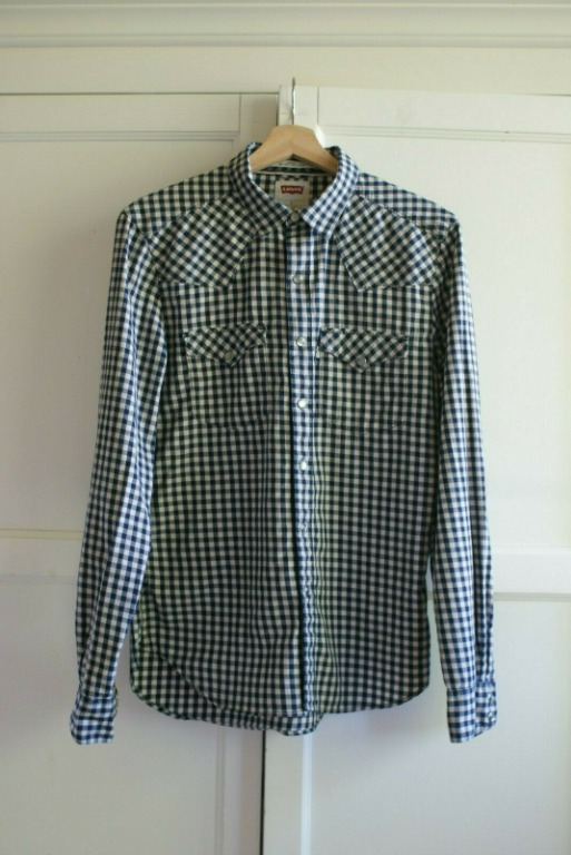 LEVI'S Casual Gingham Shirt | Button Check Like New | RRP$89