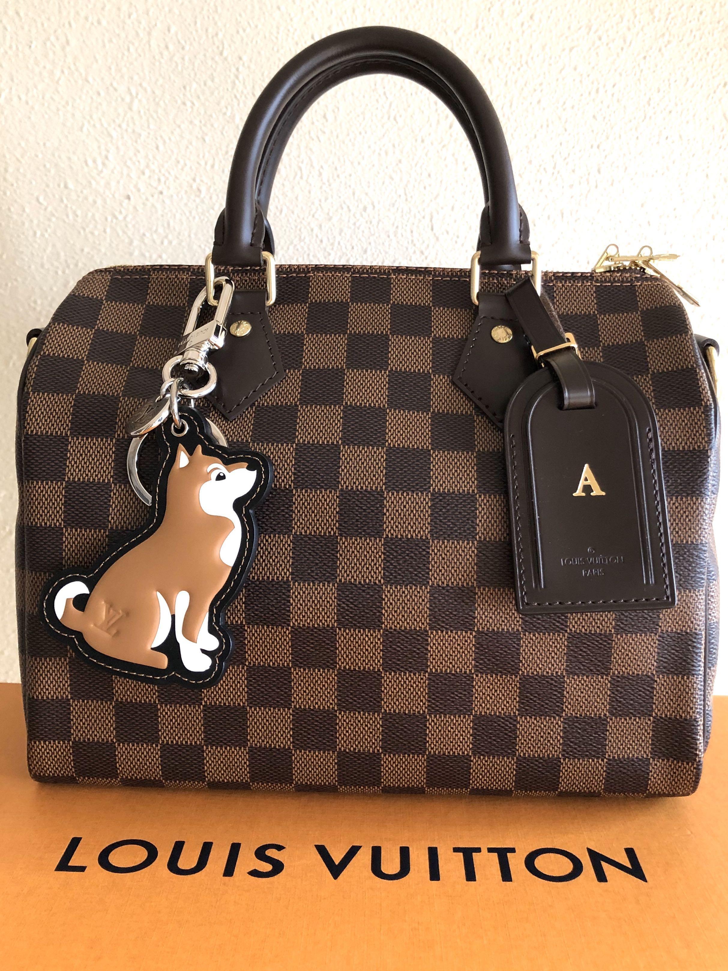 Louis Vuitton Speedy B25 with Shiba Dog Charm & Luggage Tag! SOLD!!!