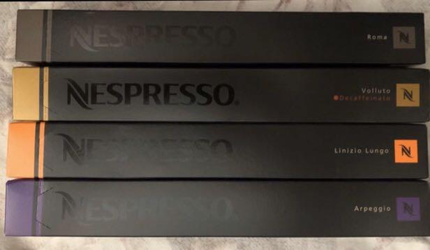 Nespresso Capsules Nespresso Capsules ($50 for 2 sleeves) Nespresso  Roma, Linizro Lungo,Volluto Decaffeinato,Arpeggio。 ($50 for 2 sleeves)任選兩條