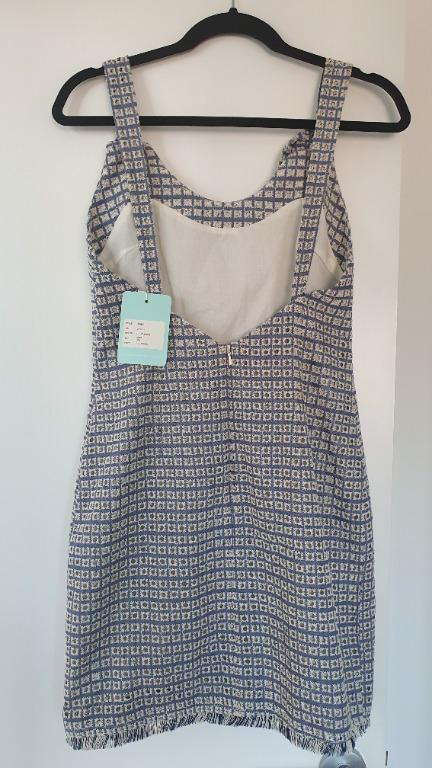 "NWT We Are Kindred Chambray ""Liv Pinafore"" Dress Size 10 (fits 8-10)"