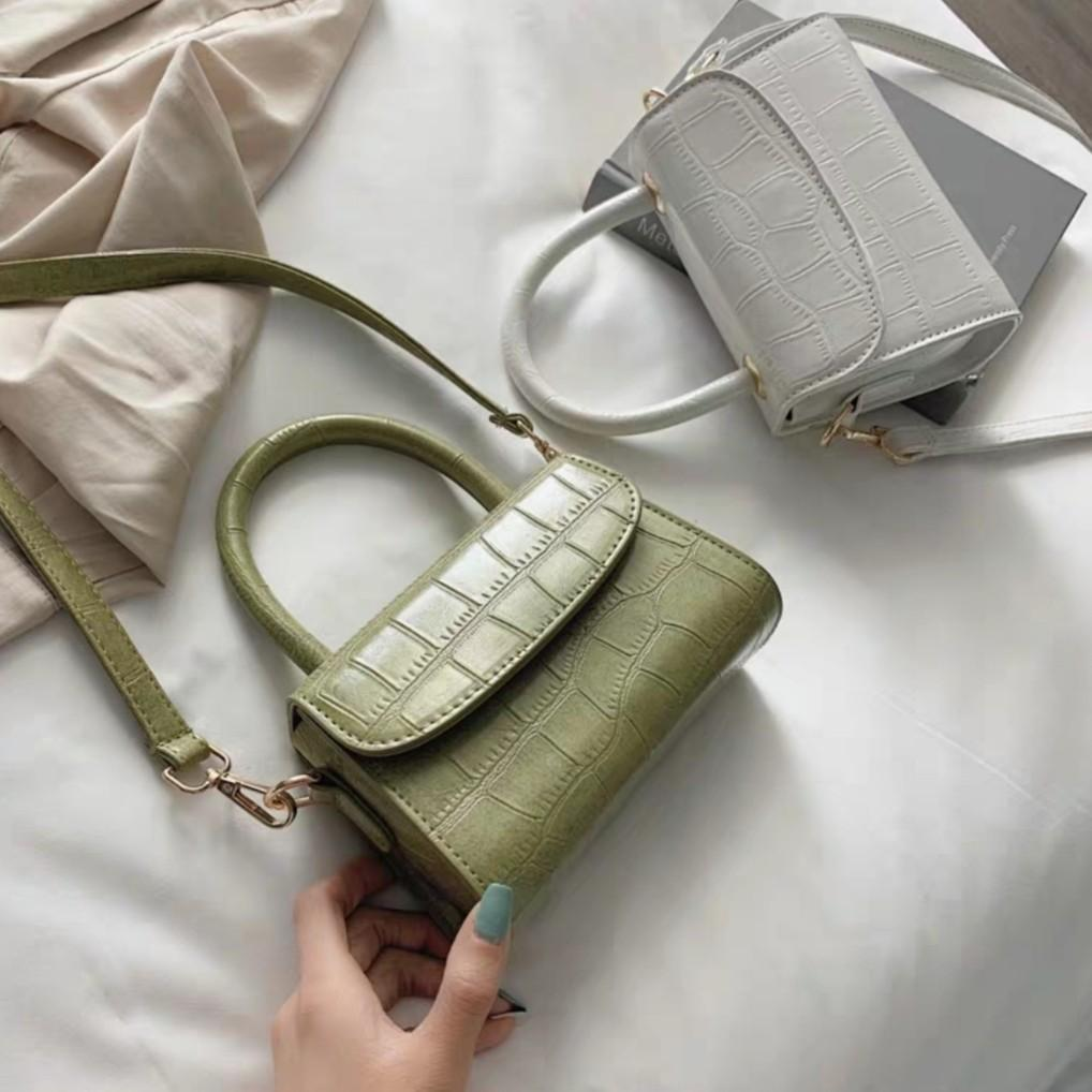 OLIVIA Top Handle Bag (White)