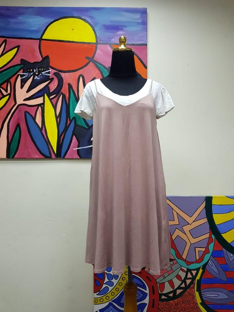 Outer Nude Pink Mididress