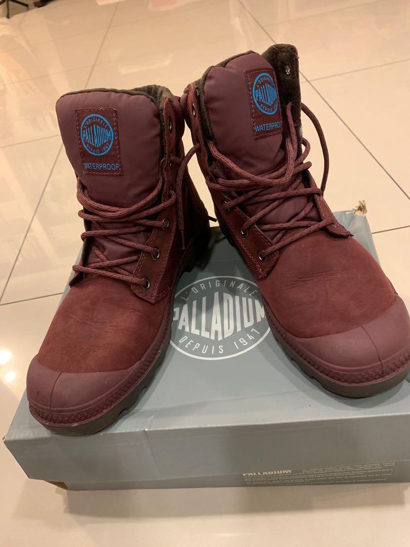 Palladium Pampa Sport Cuff WP2 酒紅 女靴