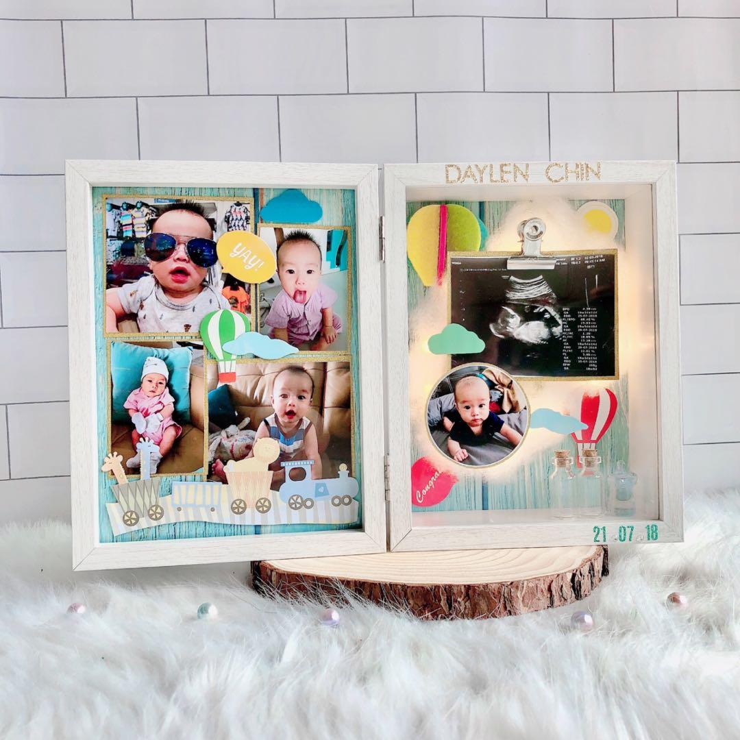 Personalised 2-tiers Photo box (hot air balloon)