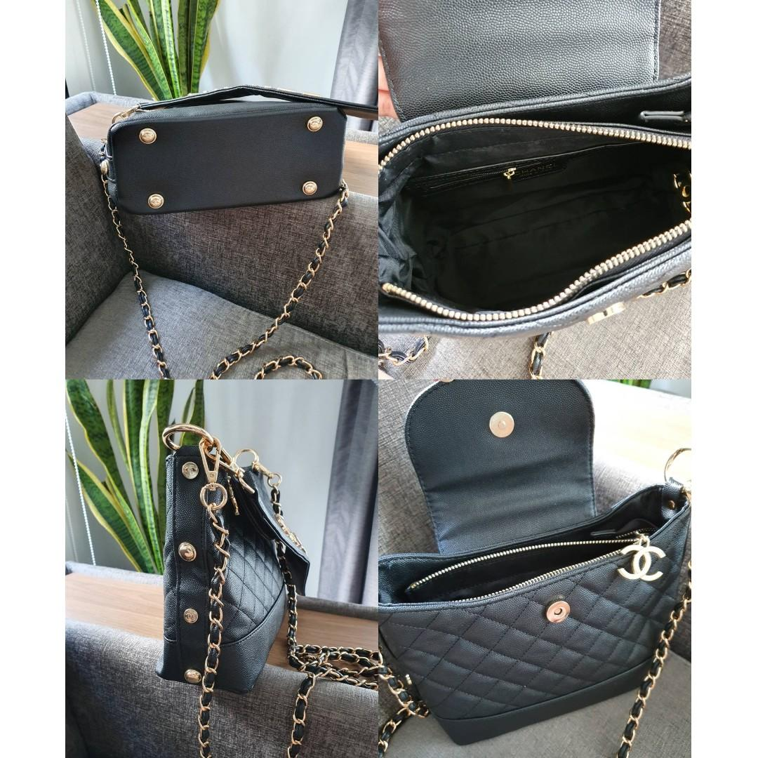 [PO] C Quilted Flap Cover Bag with Chain Strap (Black) PO1117002141 + FREE Post!